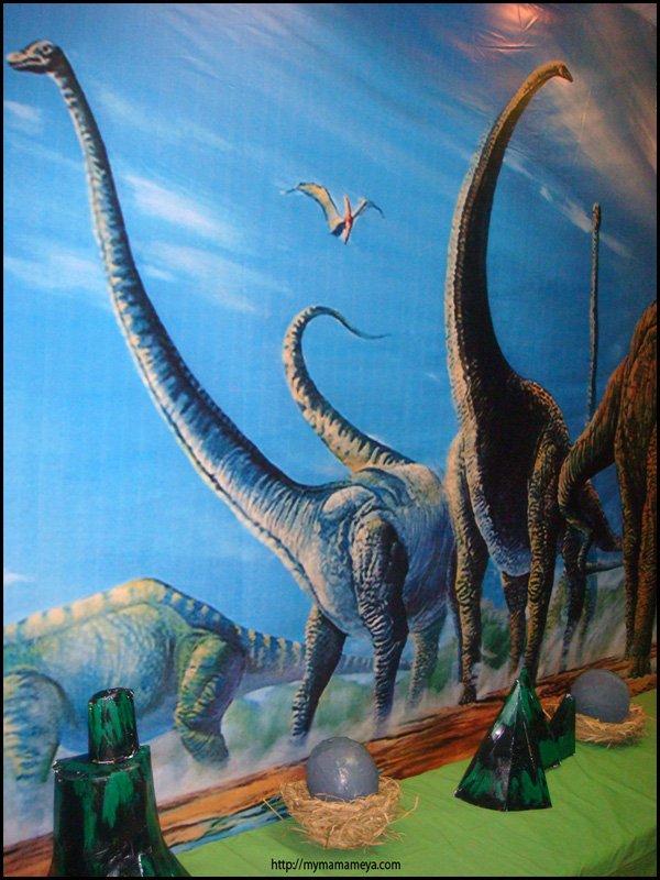 Dinosaur birthday party backdrop