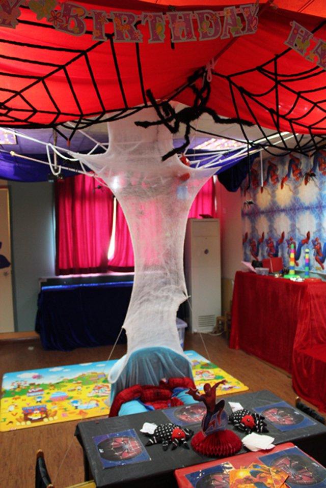 MaMaMeYa Spiderman theme Birthday Party  01