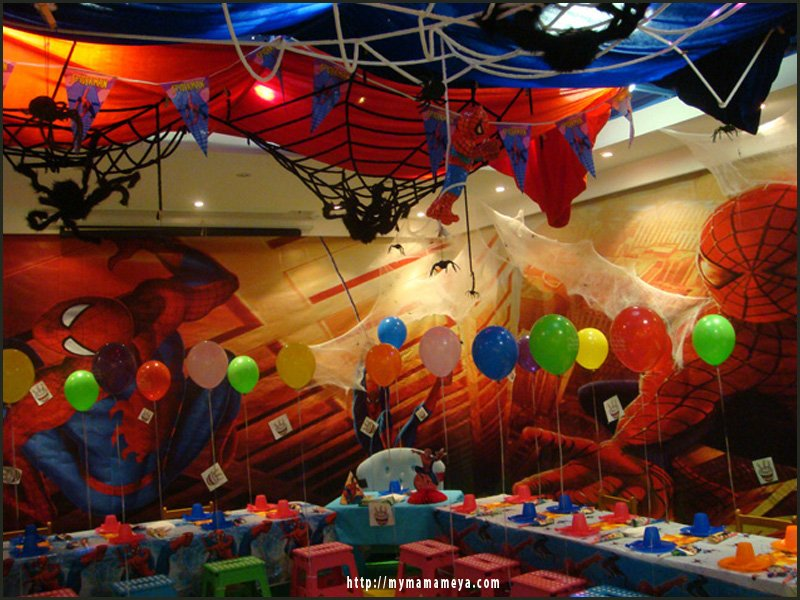 Spiderman Birthday Party mymamameya