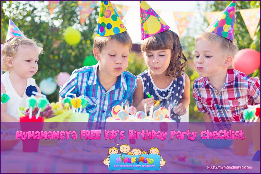 mymamameya free kids birthday party checklist