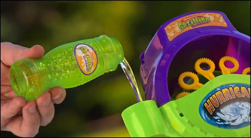 gazillion bubble machine solution