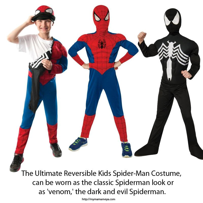 The Ultimate Reversible Kids Spiderman Costume