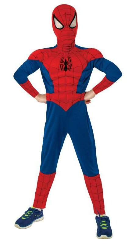 The Ultimate Spiderman Kids Muscle Chest Costume